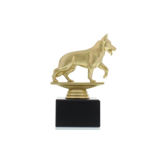 Helm Trophy Figur Schäferhund 14,0cm goldfarben