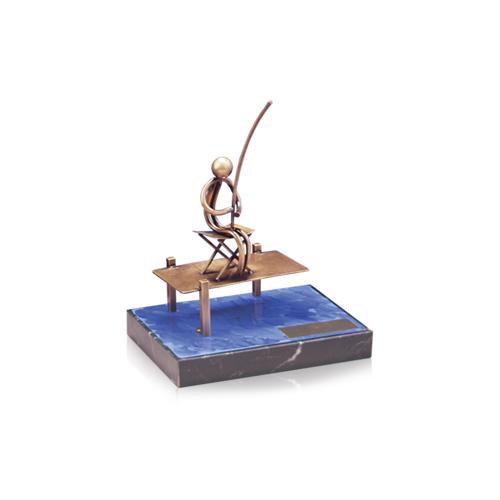 Helm Trophy ABVERKAUF Figur Angler am Steg 17,0cm