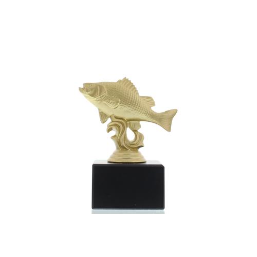 Helm Trophy Figur Flussbarsch 12,0cm goldfarben