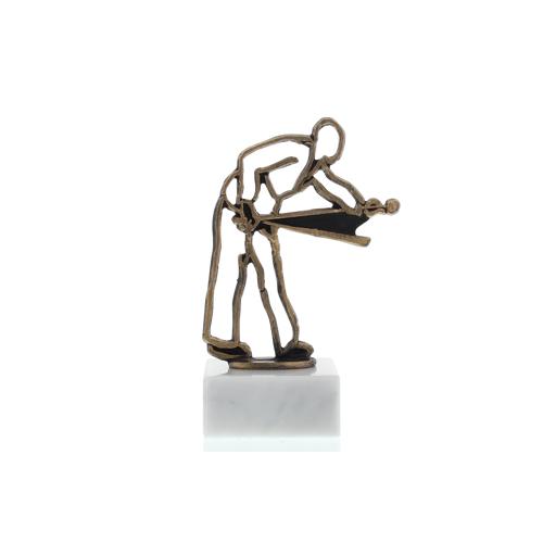 Helm Trophy Konturfigur Billardspieler 15,0cm