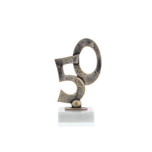 Helm Trophy Konturfigur Goldene Hochzeit 15,0cm