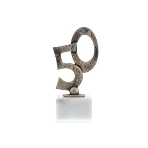 Helm Trophy Konturfigur Goldene Hochzeit 17,0cm