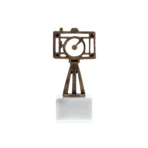 Helm Trophy Konturfigur Kamera 16,5cm