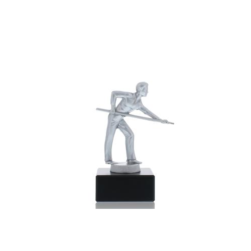 Helm Trophy Metallfigur Billardspieler 13,0cm