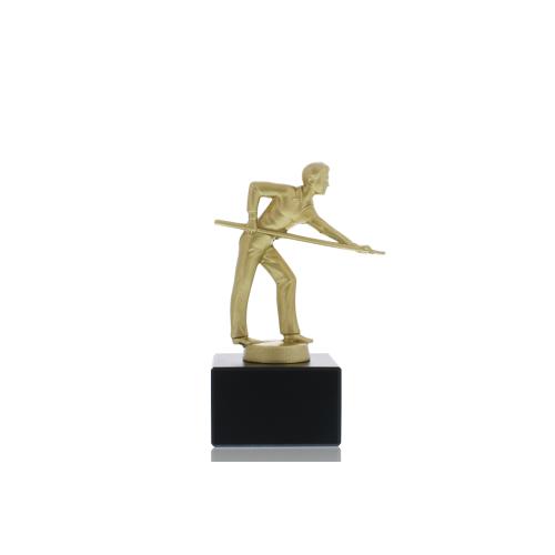 Helm Trophy Metallfigur Billardspieler 14,0cm
