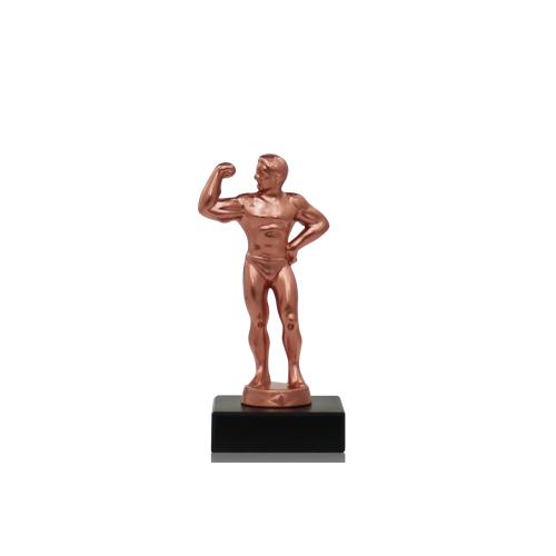 Helm Trophy Metallfigur Bodybuilder 14,5cm