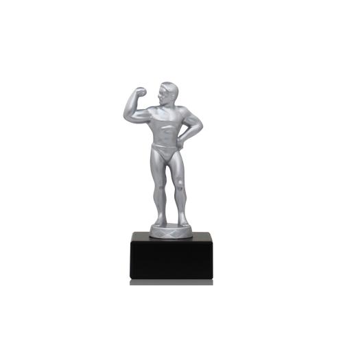 Helm Trophy Metallfigur Bodybuilder 15,5cm