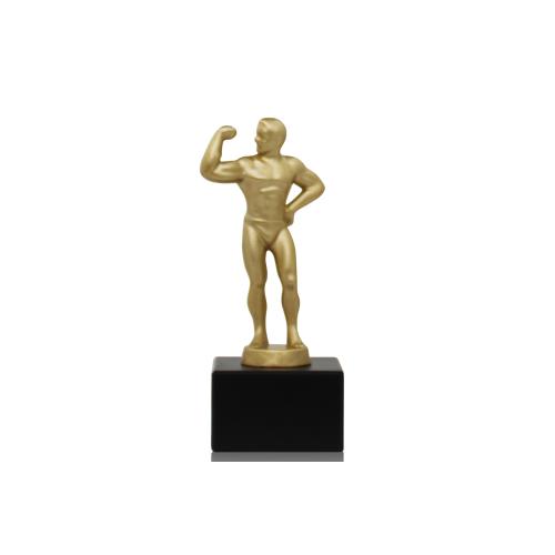 Helm Trophy Metallfigur Bodybuilder 16,5cm