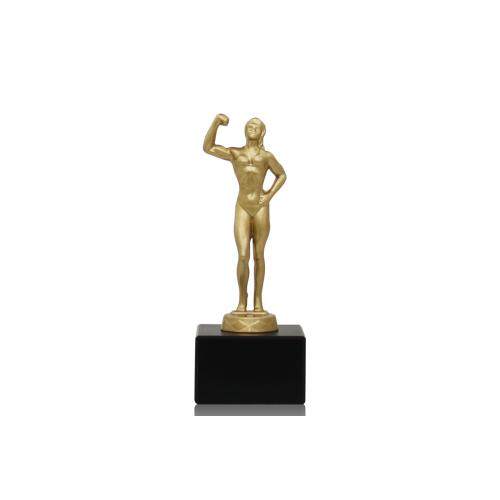Helm Trophy Metallfigur Bodybuilderin 16,5cm