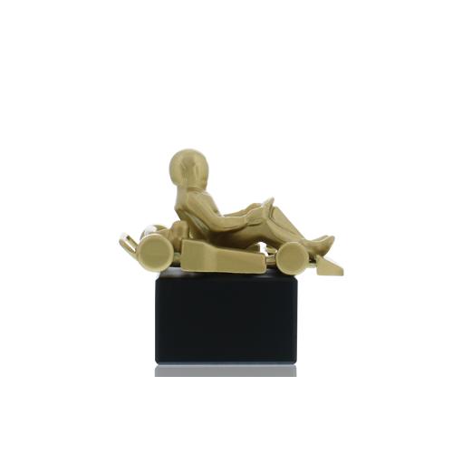 Helm Trophy Metallfigur Go-Kart 12,5cm