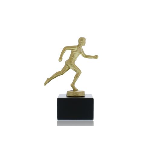 Helm Trophy Metallfigur Läufer 14,0cm