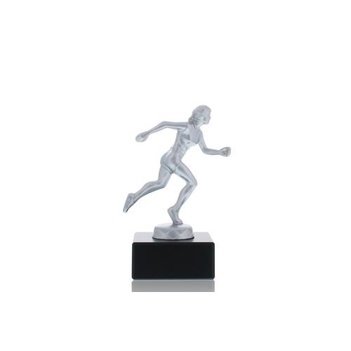 Helm Trophy Metallfigur Läuferin 13,0cm