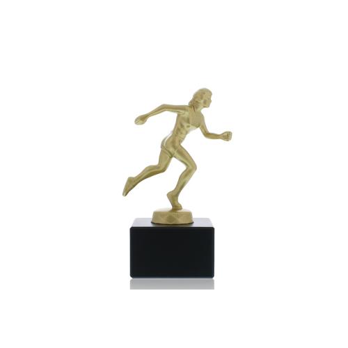 Helm Trophy Metallfigur Läuferin 14,0cm