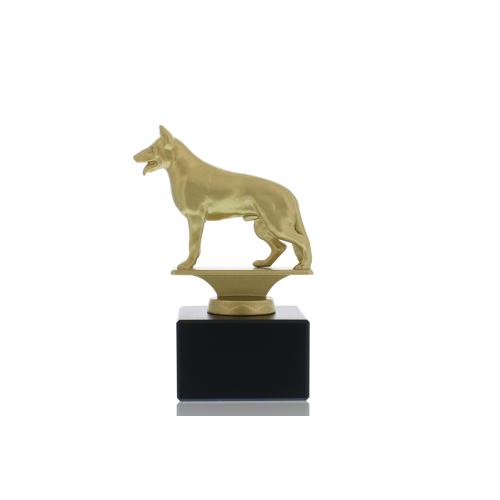 Helm Trophy Metallfigur Schäferhund 13,5cm