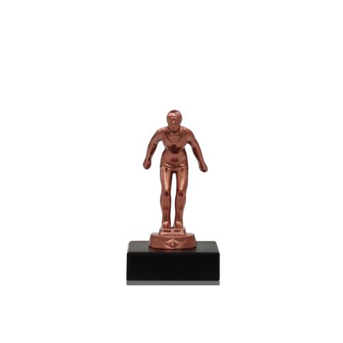 Helm Trophy Metallfigur Schwimmerin 11,5cm