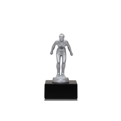 Helm Trophy Metallfigur Schwimmerin 12,5cm