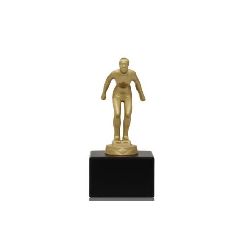 Helm Trophy Metallfigur Schwimmerin 13,5cm