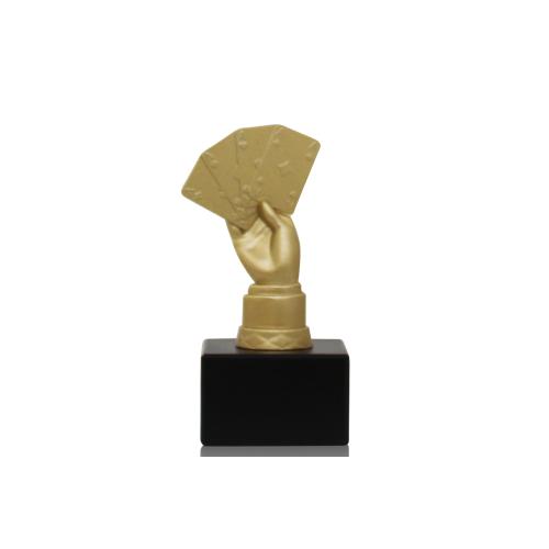 Helm Trophy Metallfigur Skat 14,0cm
