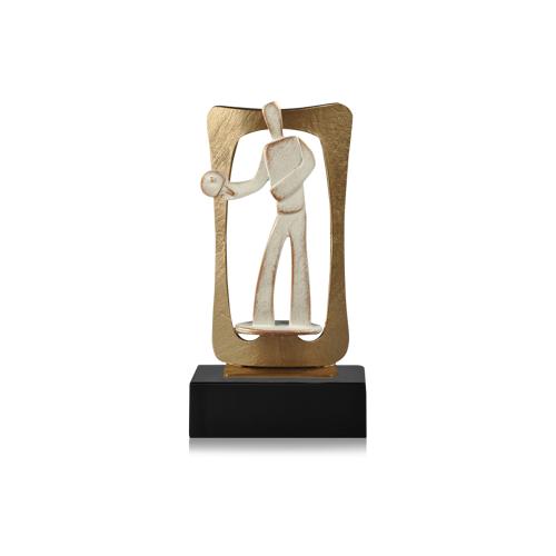 Helm Trophy Zamakfigur Frame Tischtennis 24,0cm