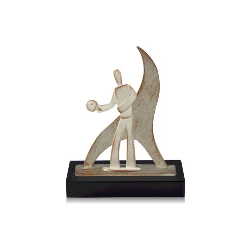 Helm Trophy Zamakfigur Flame Tischtennis 27,0cm