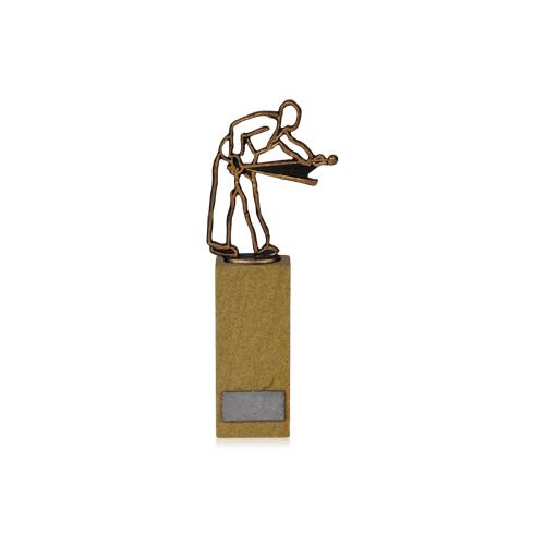 Helm Trophy Figur Billardspieler auf Sandstein 24,5cm