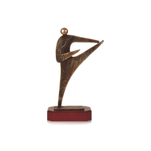 Helm Trophy Zamakfigur Karate 27,0cm