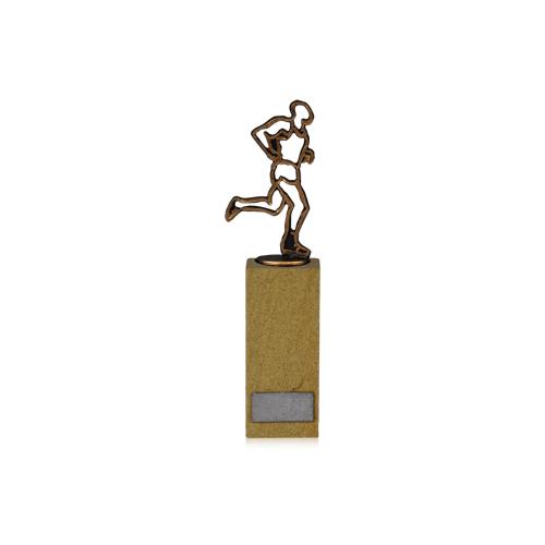 Helm Trophy Figur Läufer auf Sandstein 24,5cm