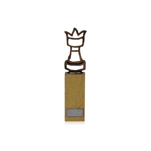 Helm Trophy Figur Schachfigur auf Sandstein 24,5cm