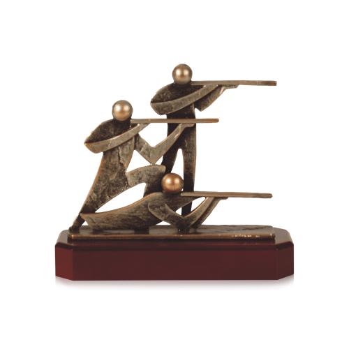 Helm Trophy Zamakfigur Schützen 17,5cm