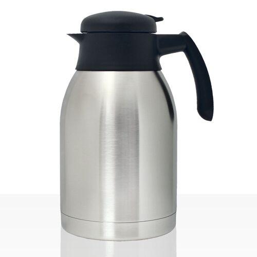 Bonamat Isolierkanne Edelstahl 2l mit Drehdeckel, Kaffee-Kanne