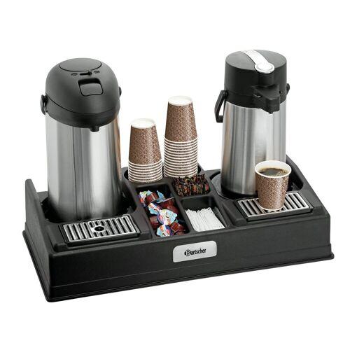 Bartscher Kaffeestation 2190 für 2 Pumpkannen und Zubehör