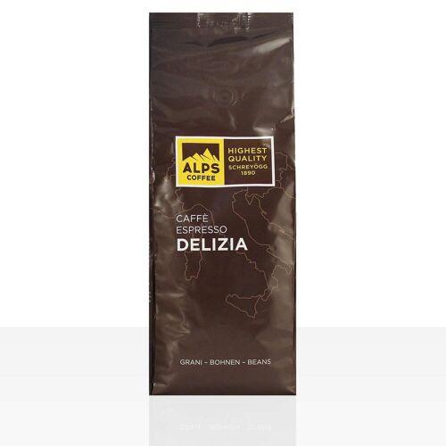 Schreyögg Alps Coffee Caffe Espresso Delizia 10 x 1kg Kaffee ganze Bohne