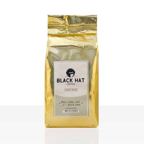 Black Hat Coffee House Blend Filterkaffee - 12 x 500g Röstkaffee gemahlen