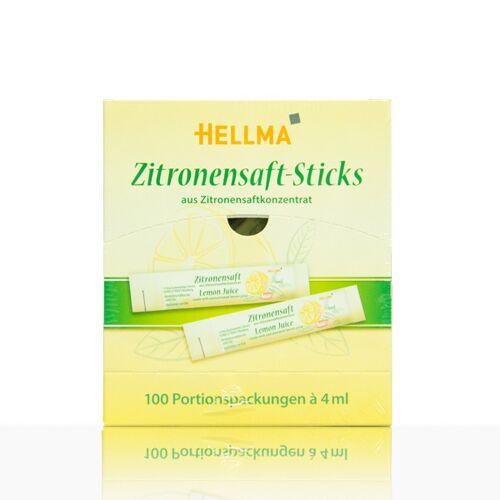 Hellma Zitronensaft-Sticks 100 x 4ml portioniert