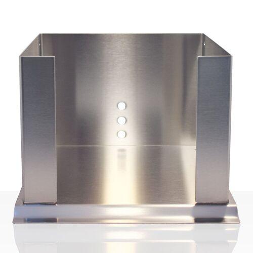 Stöckel Servietten-Box Edelstahl 33er / 4-fach
