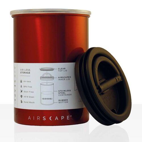 No Name AIRSCAPE - Kaffee-Dose, Aufbewahrungsdose rot 1800 ml