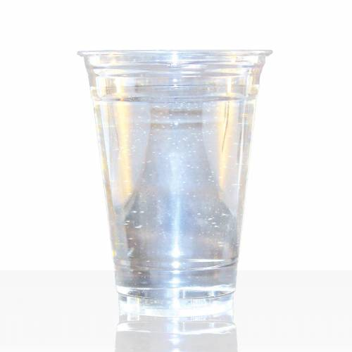 No Name Clear Cup Becher 0,3l (12oz), 50Stk PET Smoothie Klarbecher
