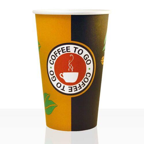 No Name Coffee to go Becher aus Hartpapier 0,4l, 100Stk, Pappbecher, Kaffeebecher to go