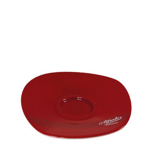 Darboven Alfredo Walküre Cappuccino und Milchkaffee-Untertasse 6 Stk, rot