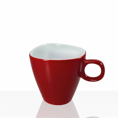 Darboven Alfredo Walküre Milchkaffee-Tasse 6 Stk, rot