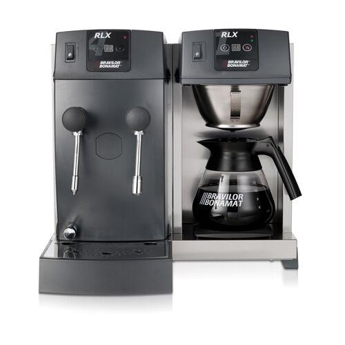 Bonamat Kaffeemaschine RLX 41 mit Glaskanne, 1 Kaffeebrühsystem, 1 Warmhalteplatte, Heißwasser und Heißwasserdampf 230V