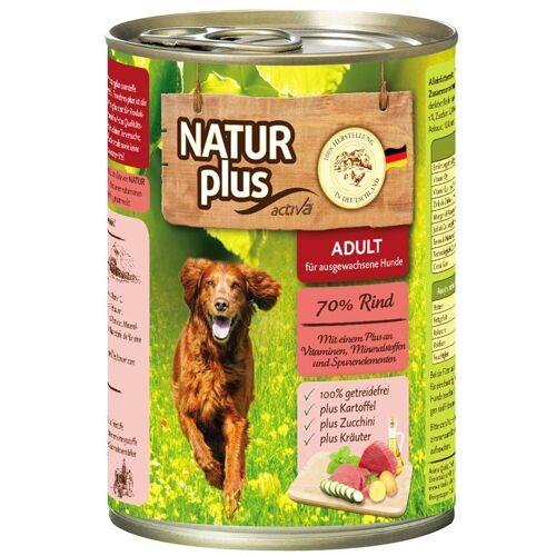 NATUR plus Hundefutter ADULT mit Rind  - 800 g