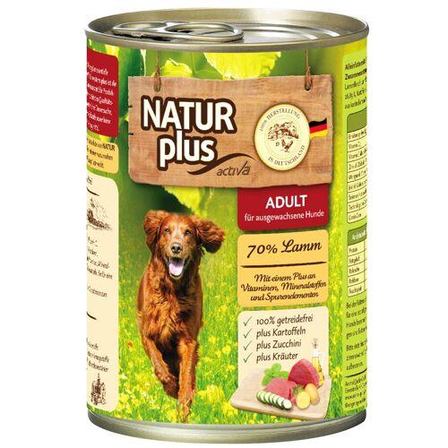 NATUR plus Hundefutter ADULT mit Lamm  - 800 g