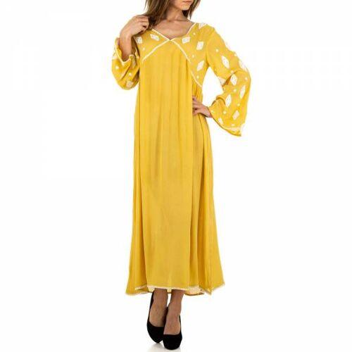 Ital-Design Maxikleid für Damen in Gelb