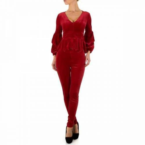 Ital-Design Zweiteiler für Damen in Rot