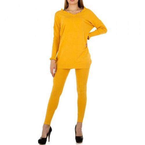 Ital-Design Zweiteiler für Damen in Gelb