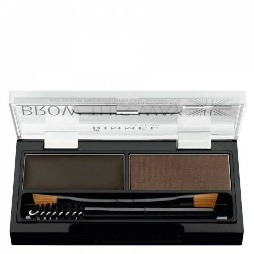 Rimmel London Brow This Way Eyebrow Powder Kit, Dark Brown