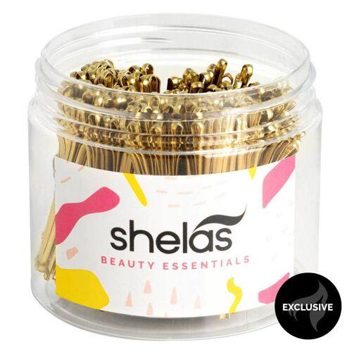 Shela`s Shelas Bobby Pins, Gold (300 Stück)