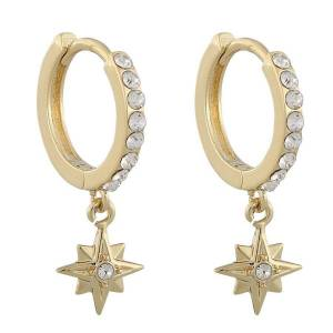 Snö Of Sweden Feliz Ring Stone Earring, Gold/Clear