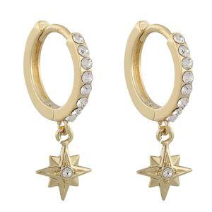 Snö Of Sweden Feliz Ring Stone Earring, Gold/Clear